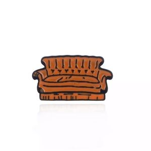 🎉 Friends Central Perk Brown Couch Pin Brooch
